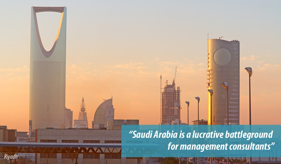 Saudi Arabia is a lucrative battleground for consultants