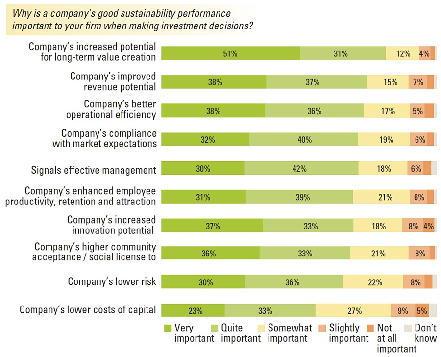 Sustainability performance and investment decision