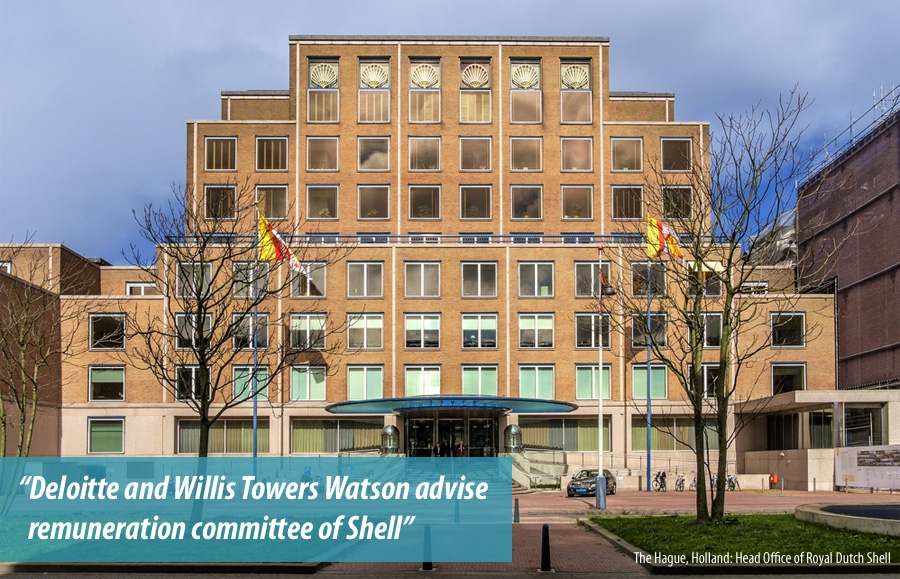 Deloitte and Willis Towers Watson advise remuneration committee of Shell