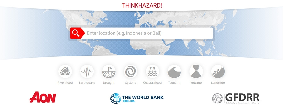 Aon supports ThinkHazard! with 31 earthquake data sets