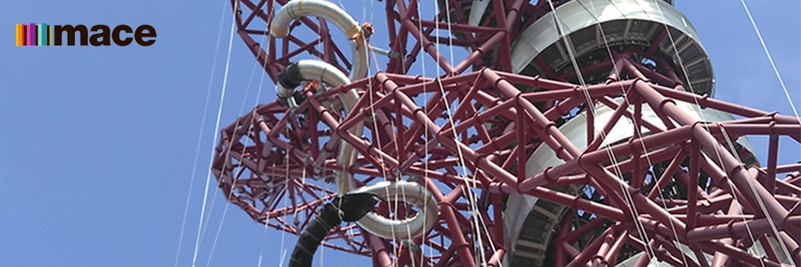 Mace designs and constructs new ArcelorMittal Orbit 178 meter slide