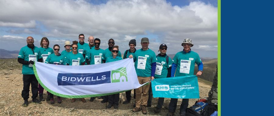 Bidwells climbs Mount Helvellyn partially in the dark for RNIB fundraiser