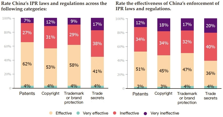 IPR laws and regulations effectiveness and enforcement