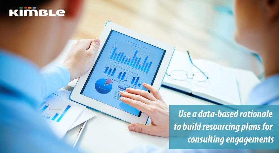 Use a data based rationale to build resourcing plans for consulting engagements