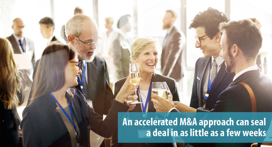 Accelerated M&A strategy for start-ups