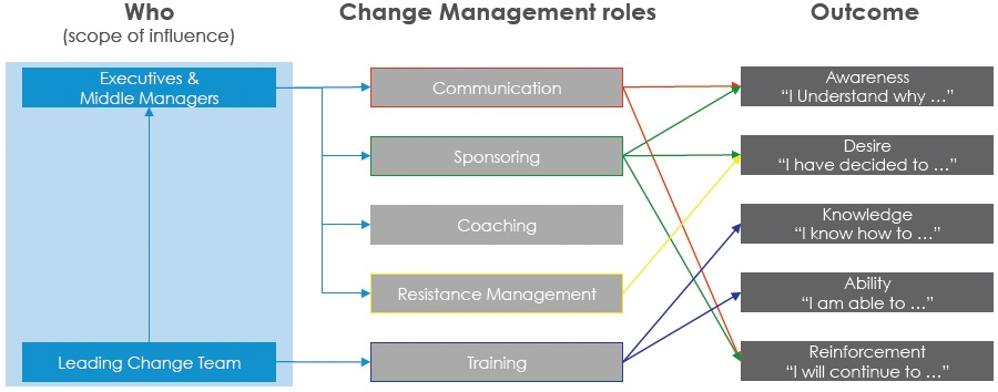 Change management roles