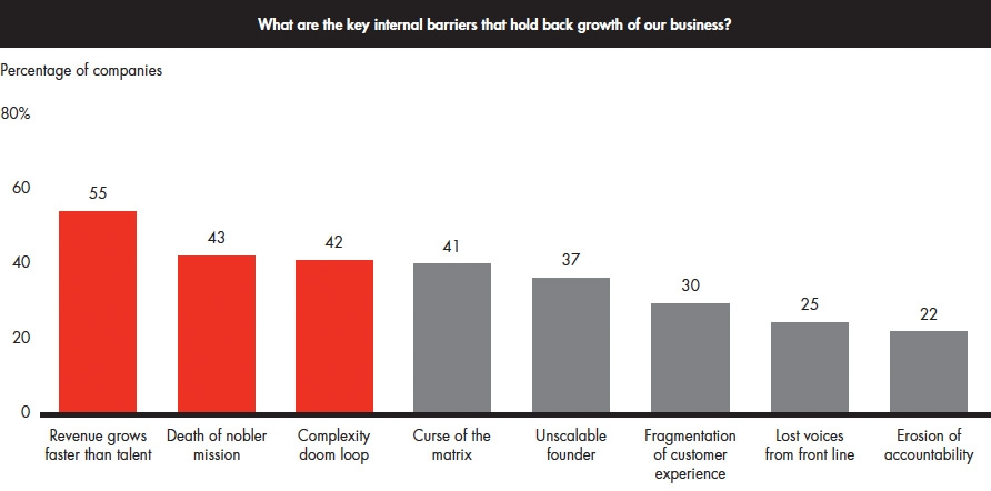 Internal barriers to growth