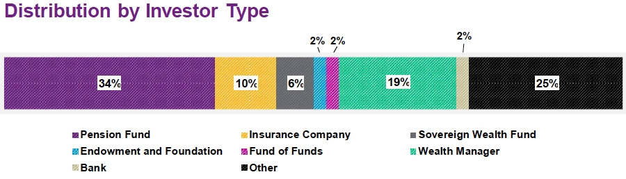 Distribution by investor type