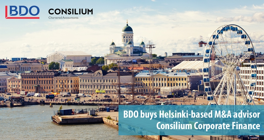BDO buys Finnish M&A advisory Consilium Corporate Finance