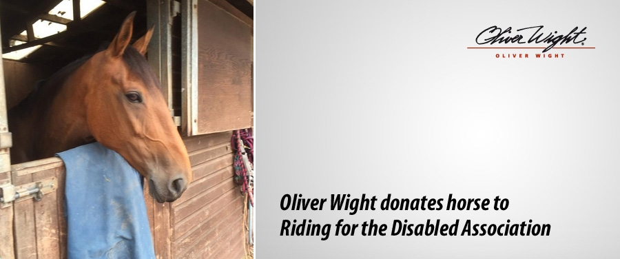 Oliver Wight donates horse to Riding for the Disabled Association