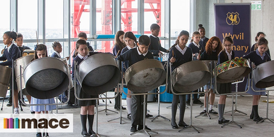 Mace raises 5,700 for steel drum band from Wyvil Primary School
