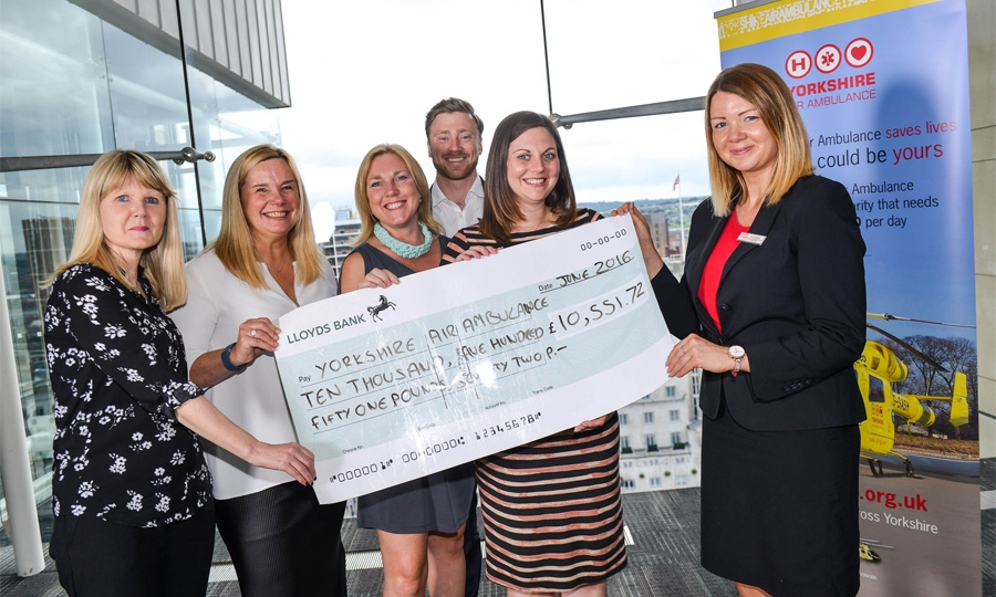 Deloitte raises more than 10,000 for the Yorkshire Air Ambulance
