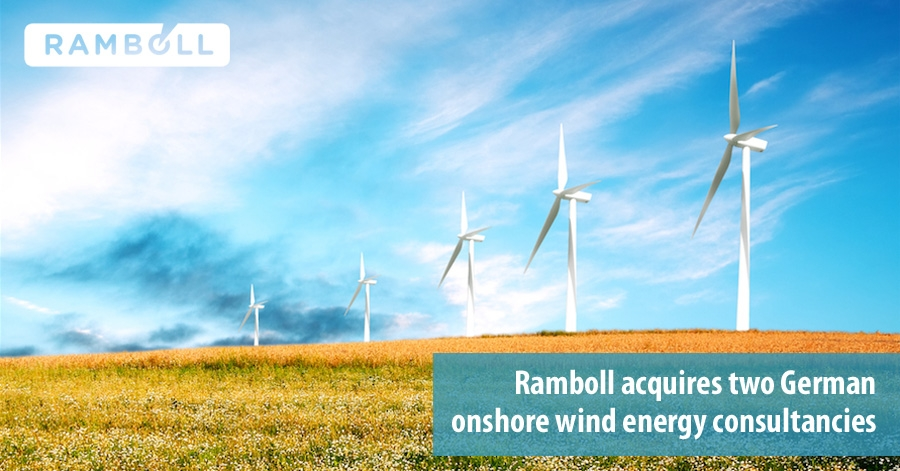 Ramboll acquires two German onshore wind energy consultancies