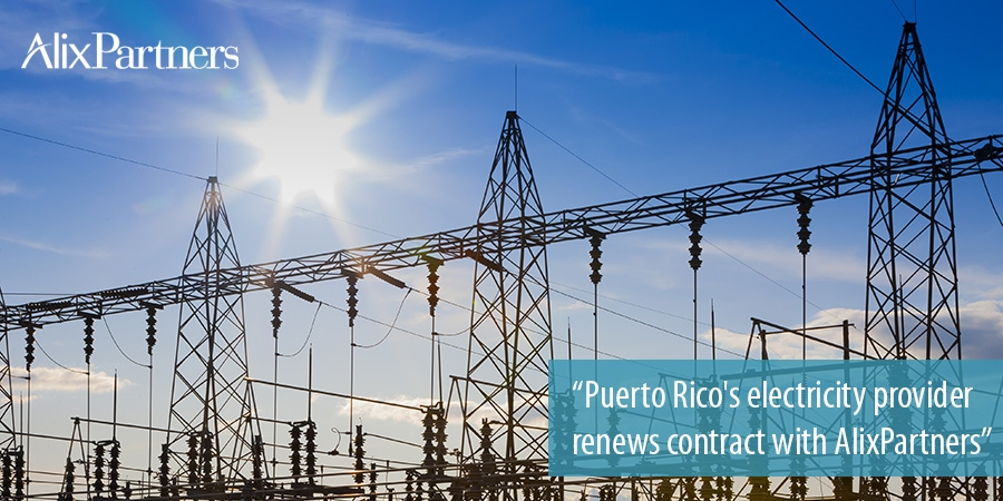 Electricity provider Prepa renews contract with AlixPartners