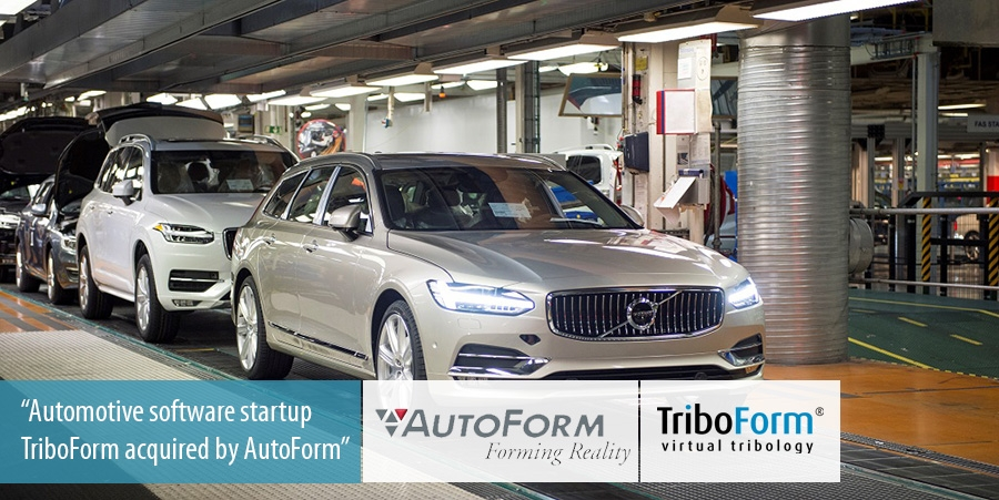 TriboForm, an automotive software startup, acquired by AutoForm