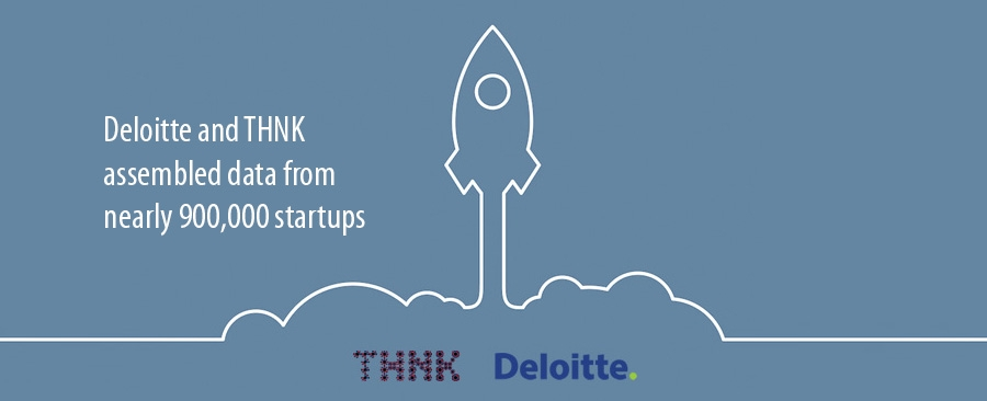 Deloitte and THNK assembled data from nearly 900,000 startups