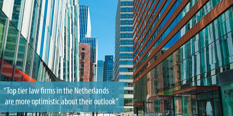 Top tier law firms in the Netherlands are more optimistic about their outlook
