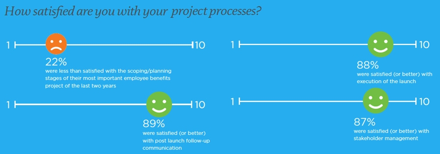 Satisfaction with project processes