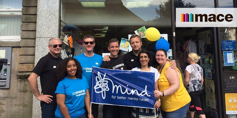 Mace supports Mind through charity shop funding race