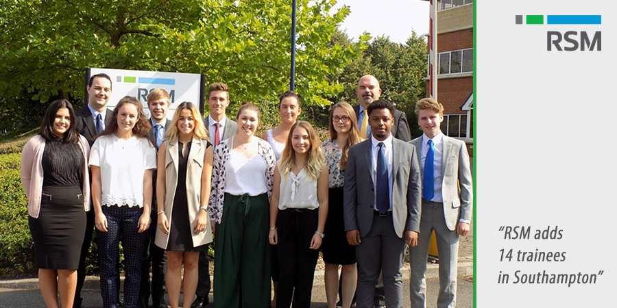 RSM adds 14 trainees in Southampton