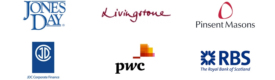 Jones Day, PwC, Livingstone Partners, Pinsent Masons, JDC Corporate Finance, Royal Bank of Scotland