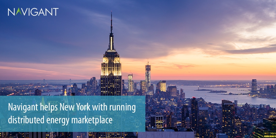 Navigant helps New York with running distributed energy marketplace