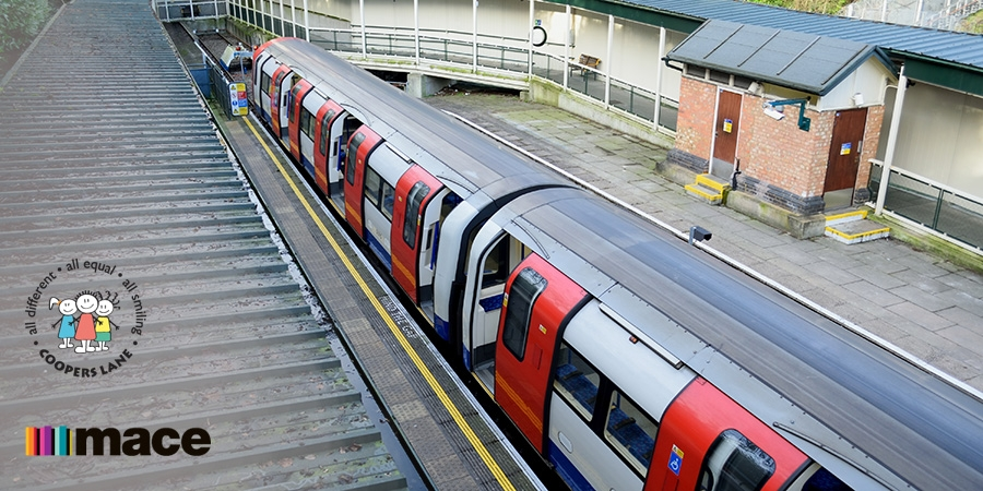 Mace installs a London tube carriage in Cooper Lane Primary School