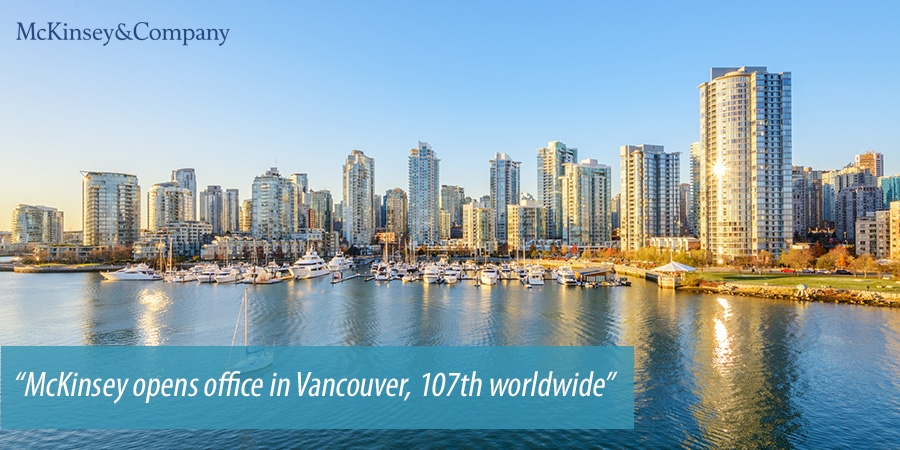 McKinsey opens office in Vancouver