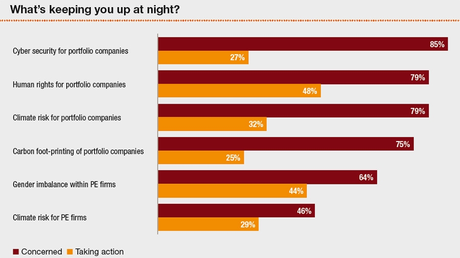 What keeps PE respondents up at night?