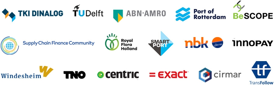 The 16 partners of the blockchain initiative