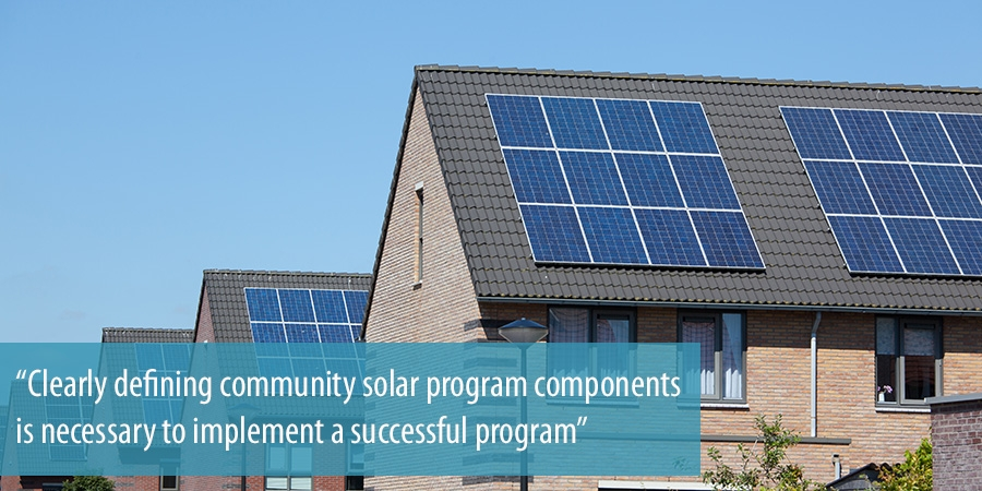 Clearly defining community solar program components is necessary
