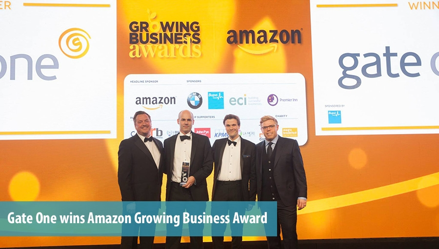 Gate One wins Amazon Growing Business Award