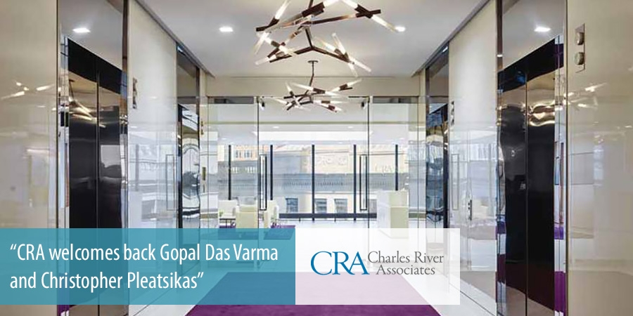 CRA welcomes back Gopal Das Varma and Christopher Pleatsikas