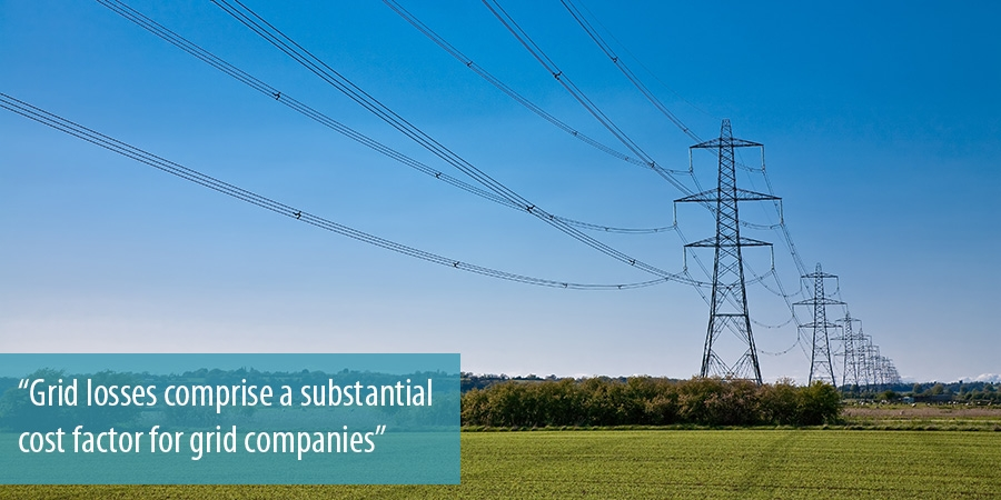 Grid losses comprise a substantial cost factor for grid companies