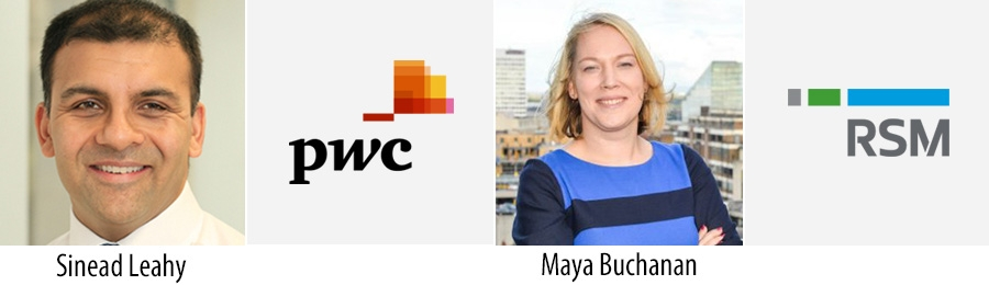 PwC appoints Sinead Leahy Partner; RSM appoints Maya Buchanan Director