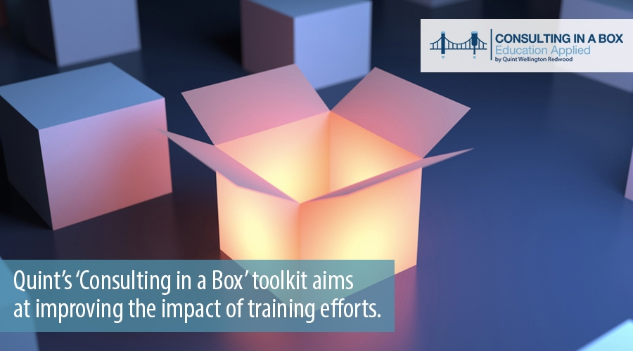 Consulting in a Box aims at improving impact of training courses