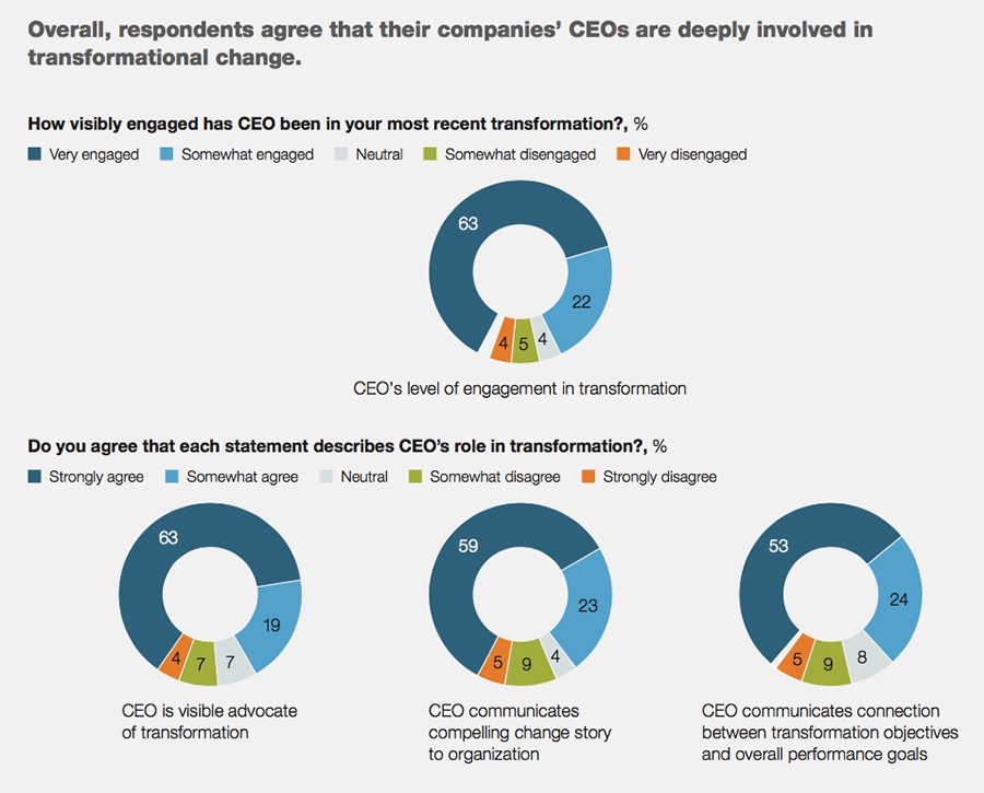 CEOs involved in transformation efforts