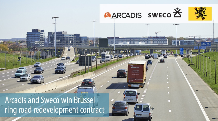 Arcadis and Sweco win Brussel  ring road redevelopment contract