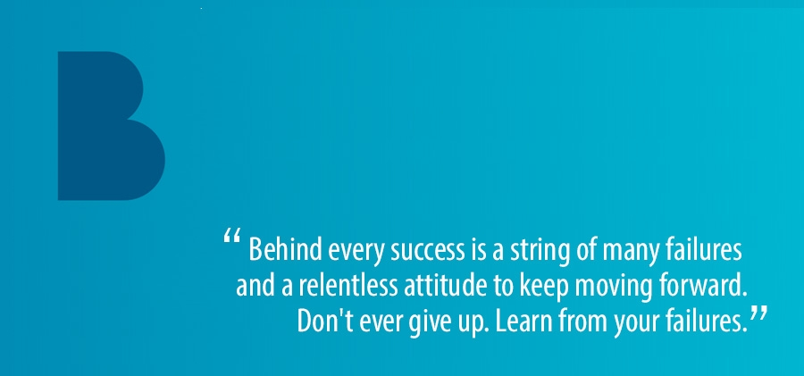 Behind every succes is a string of many failures