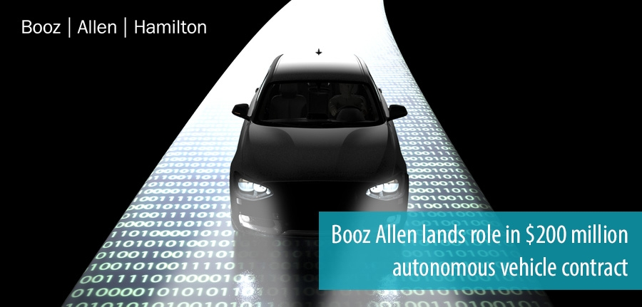 Booz Allen wins 200 million dollar autonomous vehicle contract