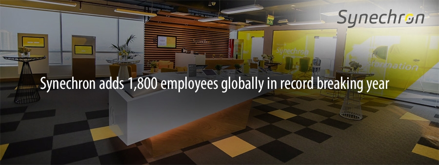 Synechron adds 1,800 employees globally in record breaking year