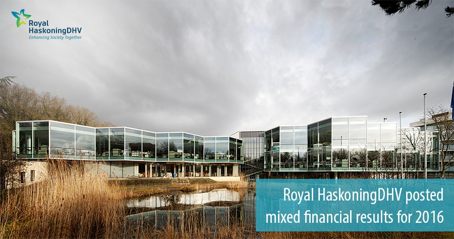 Royal HaskoningDHV posted mixed financial results for 2016