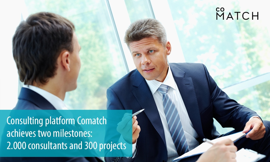 Consulting platform Comatch achieves two milestones: 2.000 consultants and 300 projects