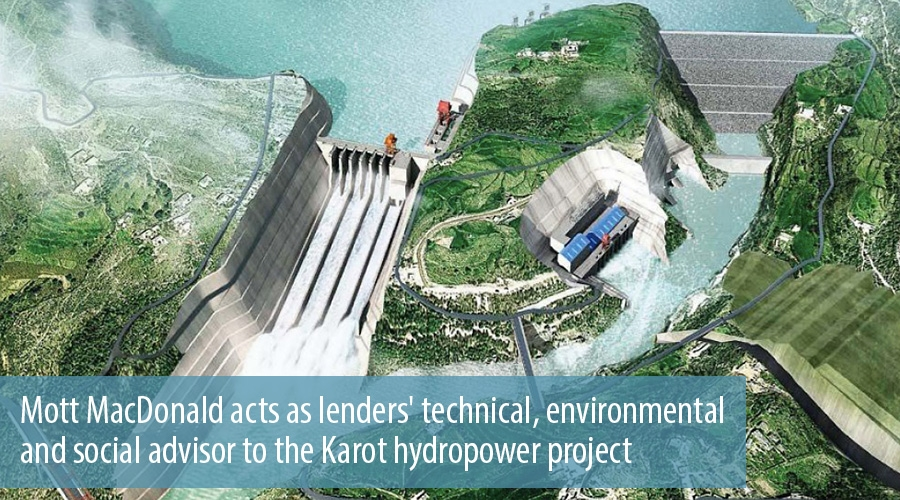 Mott MacDonald acts as lenders' technical, environmental and social advisor to the Karot hydropower project