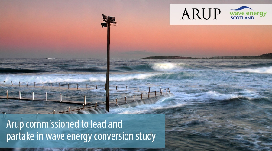 Arup commissioned to lead and partake in wave energy conversion study