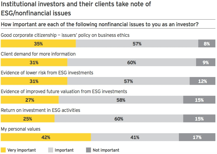 Institutional investors nonfinancial issue importance