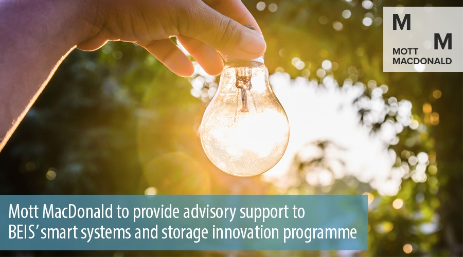 Mott MacDonald to provide advisory support to  BEIS' smart systems and storage innovation programme