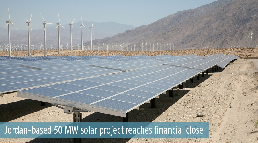 Jordan-based 50 MW solar project reaches financial close