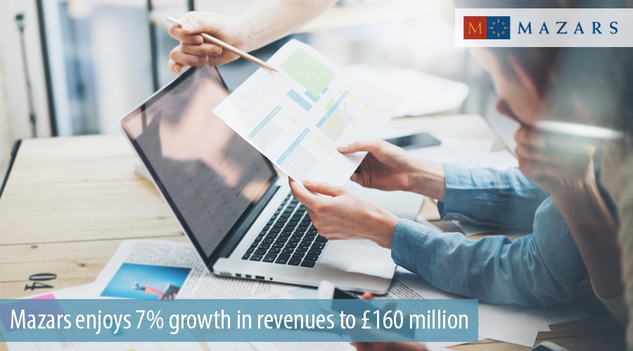 Mazars enjoys 7% growth in revenues to £160 million