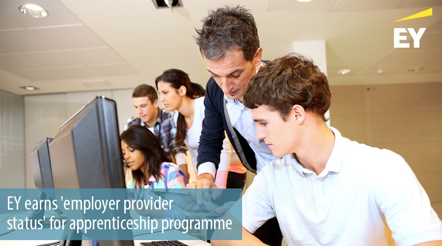 EY earns employer provider  status' for apprenticeship programme